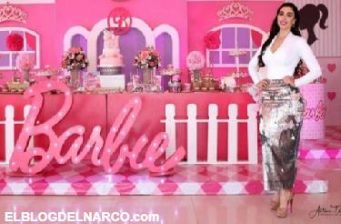 Así fue la excéntrica fiesta de cumpleaños de las hijas de El Chapo al estilo Barbie.
