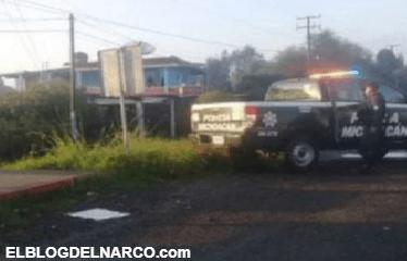 Elementos de la Policía encuentran restos humanos en Cuitzeo, Michoacán