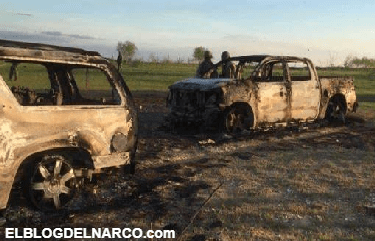 Imágenes de la balacera de Cd. Guerrero, Tamaulipas.