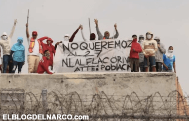 """Por cobros de piso, reos se amotinan en penal del Topo Chico contra """"El Flako"""" y """"El 27""""."""