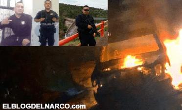 Sicarios de La Linea masacran convoy de policías en emboscada con granadas y fusiles calibre .50 para rescatar a El H2 líder del Nuevo Cártel de Juárez, hay 4 policías muertos