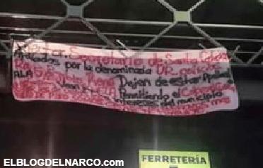 Sicarios dejan narcomanta amenazando SSP de Sta Catarina, Nuevo León