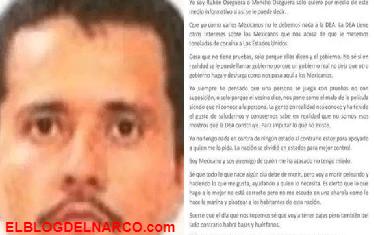 Carta de Rubén Oseguera Cervantes, El Mencho, líder del CJNG a la Nación