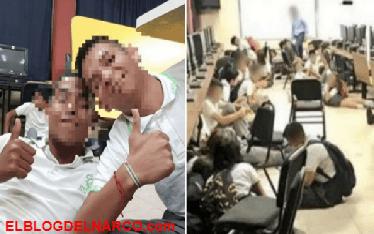 Tercera balacera juntos las selfies y los videos que los estudiantes mexicanos grabaron en pleno tiroteo