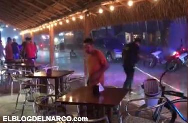 Lanzan granada y estalla en un bar de Puerto Morelos, Quintana Roo dejando varios heridos (VÍDEO)