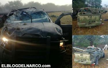 Seis militares heridos y uno muerto deja accidente en San Luis Potosí