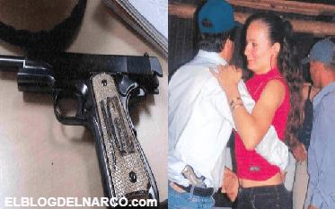 El Chapo y su afición por las armas con diamantes, publican foto del Chapo bailando y con pistola de diamantes