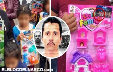 El Mencho entrega juguetes por Día de Reyes en Veracruz con logo del CJNG