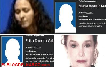 Narcotráfico, lavado de dinero, robo de niños... los delitos de las mujeres más buscadas de México