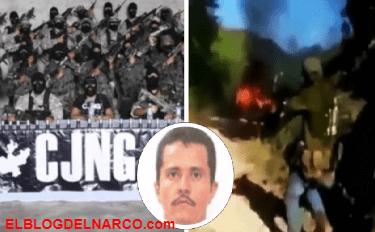 Ahí se están quemando 5 pen…' difunden balacera de sicarios del CJNG (VÍDEO)