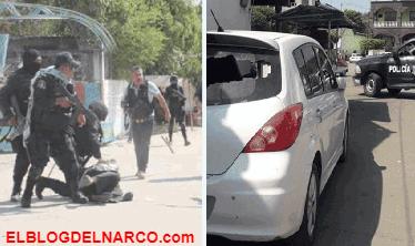 Exhiben violenta balacera entre sicarios y policías en Guerrero