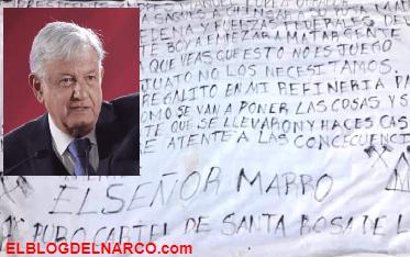 López Obrador sobre las amenazas de El Marro No nos vamos a dejar intimidar