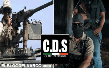 Tras caída de El Chapo, CDS se filma patrullando con metralleta de alto calibre (VÍDEO)