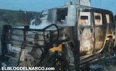 Con lanzagranadas revientan 2 monstruos blindados durante enfrentamiento entre el CDG y el CDN en Miguel Alemán, Tamaulipas