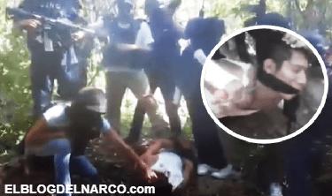 VÍDEO FUERTE! donde el CJNG difunde decapitación de miembro de el Cartel de Los Zetas