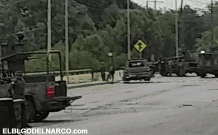 Fuerte balacera entre elementos de la SEDENA y sicarios del CDN dejan 5 abatidos en Tamaulipas.