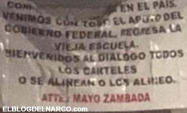 Mensajes amenazantes firmados por el 'Mayo' Zambada aparecen en Tijuana