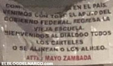 O se alinean o los alineo... con narcomanta, 'El Mayo' Zambada llama al diálogo entre cárteles en Tijuana