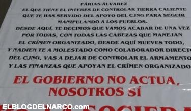 Se encienden las alertas por narcomantas contra el CJNG en Michoacán