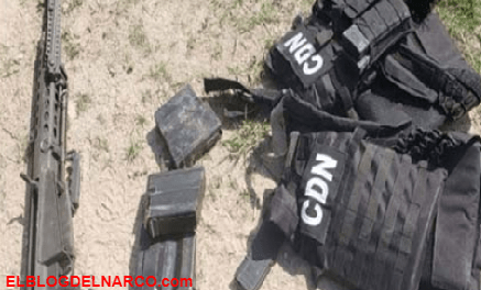 Convoy del C.D.N ataca patrulla de municipales, sicarios dejan abandonadas camionetas con armas y equipo táctico en Coahuila