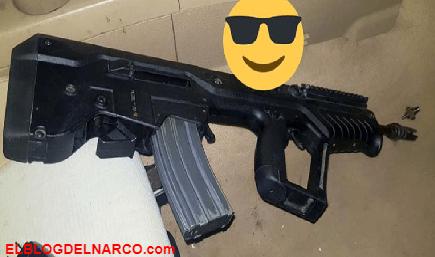 Cae a mujer sicaria de Los Escorpiones de Matamoros del CDG, portaba un moderno fusil de origen israelí