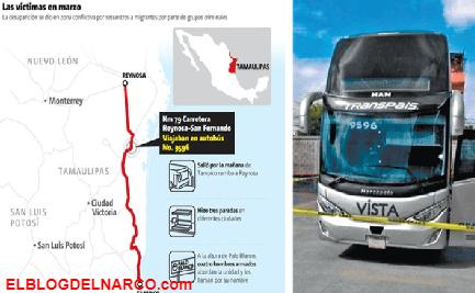 Hay Niños, entre los levantados por Sicarios de Autobús Transpais en Tamaulipas