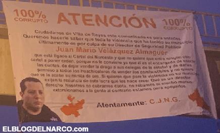CJNG deja narcomensaje amenazando al director de seguridad de estar vendido con el CDN en SLP
