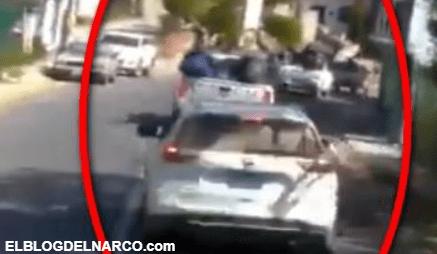Convoy de sicarios de La Nueva Familia Michoacana se exhiben ahora en Estado de México