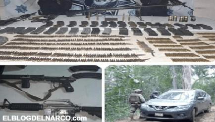 """Decomisan granadas, miles de balas y Barret """"hechizo"""" en Petatlán, Guerrero"""