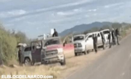 Vídeo donde sicarios del Mayo Zambada monta retén a unas millas de masacre de los LeBarón