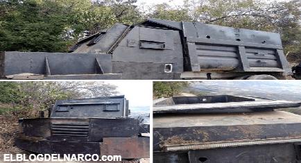 Decomisan camión Monstruo del Cártel de Jalisco Nueva Generación en el Aguaje; Michoacán (Fotos)