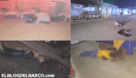Imágenes de la Narcoguerra en Guanajuato donde solo el Marro y el Mencho ganan, ataques de Sicarios dejan 12 muertos en Celaya y Villagrán
