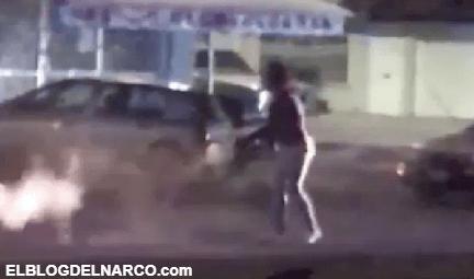 Transexual drogada roba arma de policía, dispara y hiere a varios en Aguascalientes, México (VÍDEO)