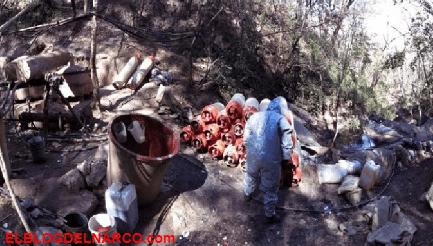 Decomisan laboratorio clandestino para la elaboración de drogas sintéticas en Tamazula, Durango