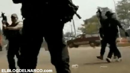 El aterrador momento en que policías de Veracruz agredieron a manifestantes y periodistas