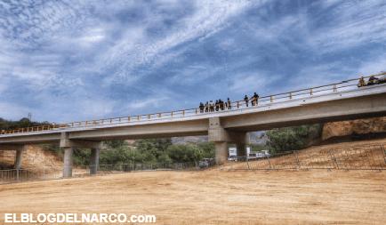Inaugura AMLO puente vehicular en el Triángulo Dorado del Narco