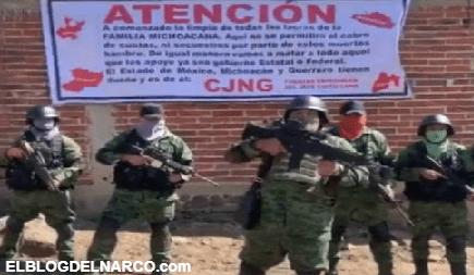 Sicarios del CJNG anuncia su llegada al Estado de México y amenaza a La Familia Michoacana