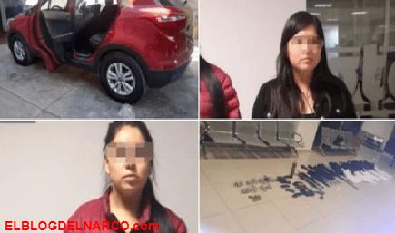 Sobrina del Marro es detenida con arsenal tras ser abandonada por sicarios