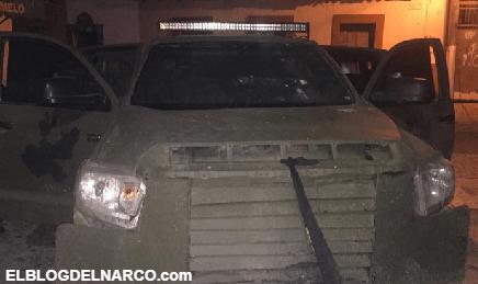 Decomisan troca Monstruo con blindaje artesanal del CJNG en Chinicuila, Michoacán