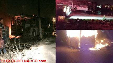 """El Cártel del Noreste así quemó autobuses por que no les pagaron """"derecho de piso"""" (Fotos)"""