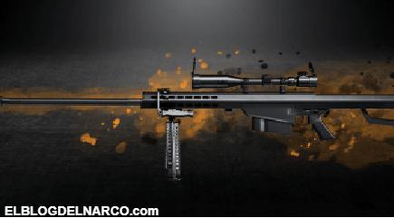 El sonido de la muerte, así es el fusil Barret .50, un arma de guerra en manos del narco...