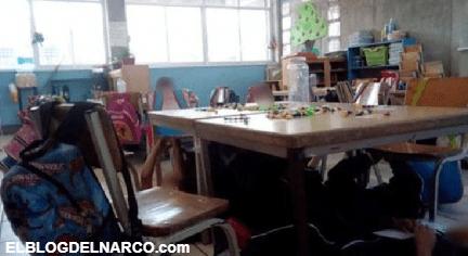 No pasa nada, son cuetes'; maestra calma a niños durante balacera....
