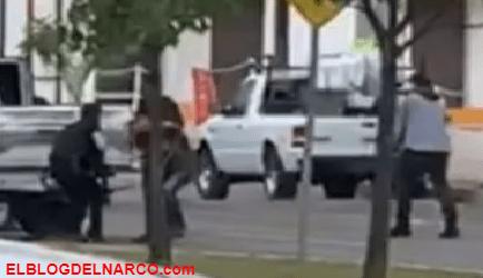 Vídeo donde sicarios de los Chapitos golpean a policía de Culiacán