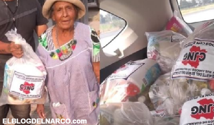 Cártel Jalisco Nueva Generación regala despensas en Guanajuato pese a rechazo de AMLO