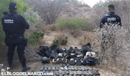 Decomisan arsenal, droga y equipo táctico militar al Cartel del Golfo