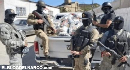 FOTOS Sicarios del CDS repartieron despensas en Chihuahua con la imagen de Bin Laden