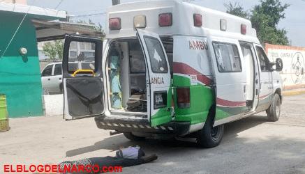 Pistoleros interceptan ambulancia y ejecutan al herido y acompañantes en Hidalgo, Tamaulipas