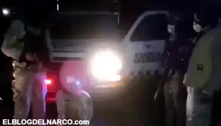 VÍDEO La contra camionetas clonadas de la GN levanta a Sicario del C.D.S y envía mensaje