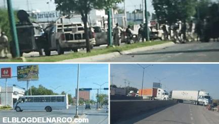 """VÍDEO Tropa del Infierno causan terror por la muerte de su líder """"El Pin Pon"""" en Nuevo Laredo"""