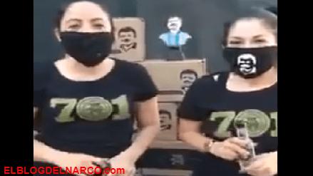 VÍDEOS Alejandrina hija del Chapo reparte Chapo despensas por COVID-19 a nombre de su papa